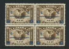 CANADA 1932 6c on 5c OTTAWA CONFERENCE AIR BLOCK MNH Sc#C4 CAT $280 (SEE BELOW)