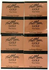 """8 Tad Moore Golf Pro Series Golf Shaft Band Labels Gold/Black 1 7/8"""" x  1 5/8"""""""
