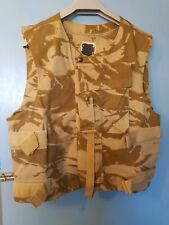 BRITISH DESERT DPM BODY ARMOUR COVER / FLAK JACKET / VEST M/L camouflage