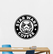 Star Wars Coffee Wall Decal Stormtrooper Movie Vinyl Sticker Cool Decor 119aaa