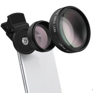 2 in 1 0.45x Wide Angle Lens With 12.5x Macro Lens HD For Smart Phone Iphone