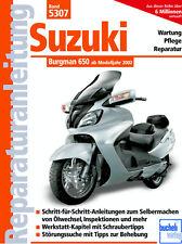 Reparaturanleitung Suzuki Burgman 650 Motorroller Wartungshandbuch 5307