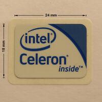 Intel Celeron Inside Laptop PC Sticker Logo Label Badge Decal 24x18 mm NEW