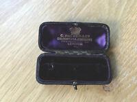 Antique THREE STUD box gift or presentation PACKER & CO REGENT ST LONDON