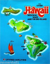 The Other Hawaii Maui Hawaiian Island United States Travel Advertisement Poster
