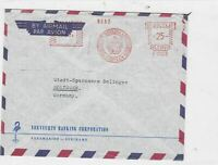 suriname  1964 machine cancel airmail  stamps cover  Ref 10021
