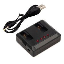 1x2-2 Cargador DC 5V USB Batería Lipo Hubsan X4 H107D H107C 4.2 V 500 mAh FPV RC