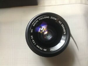 Vivitar 35-70mm 1:2.8-3.8 MC Macro Focusing Zoom for Pentax PKA