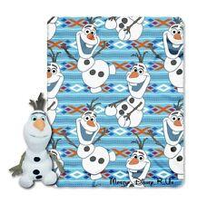 "New Disney Frozen Olaf Dancing Throw & Plush Toy Set Plush Throw Blanket 40""X50"""