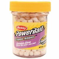 Berkley Powerbait Crappie Nibbles Dough Bait Glow, Glow White, 1.1 Oz