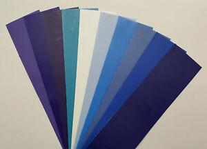 Wachsplatten 10 Stk. Blau-Mischung 20 x 5cm, Kerzen gestalten (64,90 EUR/m²)