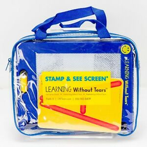Handwriting without Tears Stamp See Screen Laminated Cards RollADough Letters