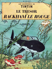 """11x14""""Decoration poster.Interior design Art.Tin dog.French.Tintin in whale.6383"""