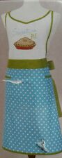 Better Homes & Gardens Kitchen Apron ~ Sweet as Apple Pie Teal White Dot Green