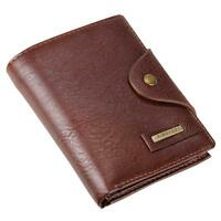 Mens Faux Leather Wallet Retro Fashion Men Purse With Coin Pocket