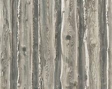 Papel papel pintado Dekora naturaleza 6 as 95837-2 madera natural bretterwand valla gris beige