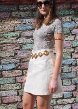 Gianni Versace Gold Skirt Versus 90's BNWT Mini Length A-Line Vintage Size Uk 8
