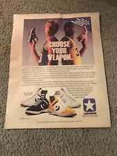 Vintage 1986 CONVERSE WEAPONS LARRY BIRD MAGIC JOHNSON Poster Print Ad 80s RARE
