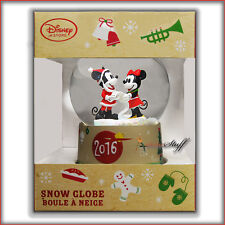 Disney 2016 Mickey, Minnie Mouse Snow Globe Holiday Christmas Expedited Shipping