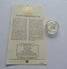 More details for 1996 silver proof £2 euro 96 football with westminster coa