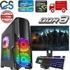 Fast Gaming Pc Computer Bundle Intel Quad Core I5 8gb 480gb 4gb Gtx1050ti Win10