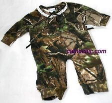 REALTREE CAMOUFLAGE GIRL BABY INFANT SLEEPER - LACE CREEPER