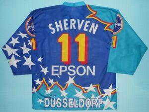 Düsseldorfer Eg Starter Ice Hockey Jersey 1995/96 Epson Germany Canada  XL DEG