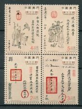 Macao Macau 2018 MNH Chapas Sinicas Document Manuscripts 4v Block Stamps
