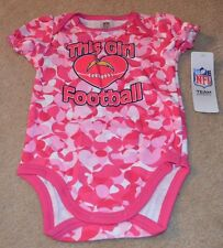 San Diego Chargers Baby Girl Loves Football Camo Bodysuit New 18  Months