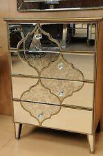 Casablanca 4 drawer mirrored chest - premium