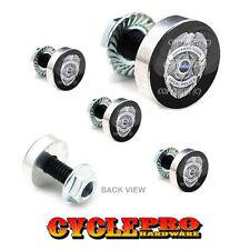 5 Pcs Billet Fairing Windshield Bolt Kit For Harley POLICE BADGE BLUE LINE - 077