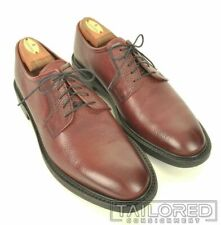 BROOKS BROTHERS PEAL & CO Maroon Burgundy Pebbled Leather Dress Shoes - 9.5