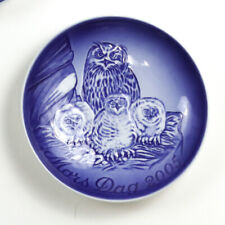 Bing & Grondahl 2005 Mother's Day Collector Plate, Mors Dag, Horned Owl w/Chicks