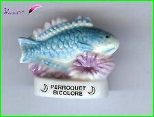"Feve de collection Poisson Fisch Edition Atlas "" Le Perroquet Bicolore "" #E25"