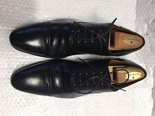 A. Testoni Black Leather Cap Toe Oxfords Shoes Men's Size 8.5 , US Size 9.5