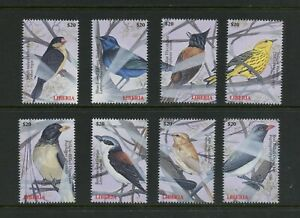 F045 Liberia 2000 birds 8v. MNH
