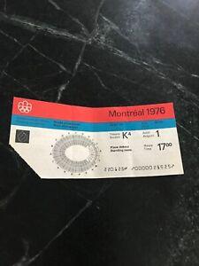 1976 Montreal Summer Olympics Ticket Closing Ceremony Stadium Vtg Rare Aug 1