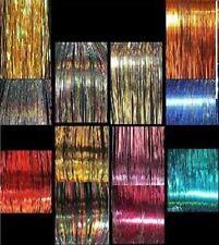 """3,120 Strand (13 Packs) 40""""  Of Shiny Silk Hair Tinsel"""