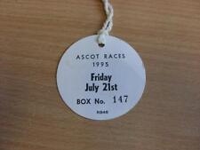 21/07/1995 Ascot Races - Horse Racing Badge (good condition with no apparent fau