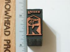 Kaiser Printers Block Vintage Letterpress Rare!!!