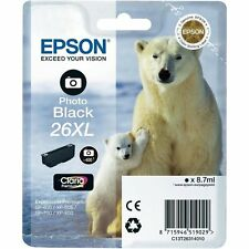 1x Original EPSON XL T26 PATRONEN XP625 XP700 XP710 XP720 XP800 XP810 XP820 Foto