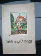 Adessbuch Wohnungsanzeiger Rothenfelde Teutoburger Wald aus den 20er Jahren