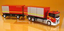 Herpa 310017 SCANIA CG 17 Abrollcontainer-hz Feuerwehr Scale 1 87