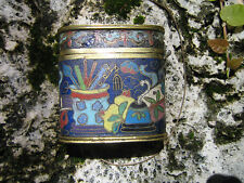 Antique Chinese Cloisonné Opium Box container authentic 18-19 th Century