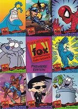 1995 Fox Kids Network Cards Promo Sheet