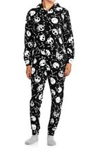 Nightmare Before Christmas Pajamas Hooded Non Footed 1 PC NWT S M L or XL LTD