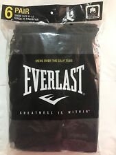 Mens Over The Calf Tube Socks 6 Pair Black Socks Size 10-13 Everlast Brand SALE