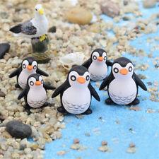 5Pcs DIY Penguin Ornaments Miniature Gardening Decoration Dollhouse Mini Gif B@M