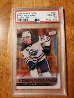 2018-19 Upper Deck Young Guns Evan Bouchard Clear Cut PSA 10 Population 1
