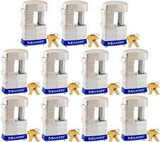Lock Set by Master 37KA (lot of 11) Keyed Alike Shrouded Laminated Padlocks New